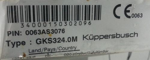 Cristal Kuppersbusch GKS324.0M matrícula