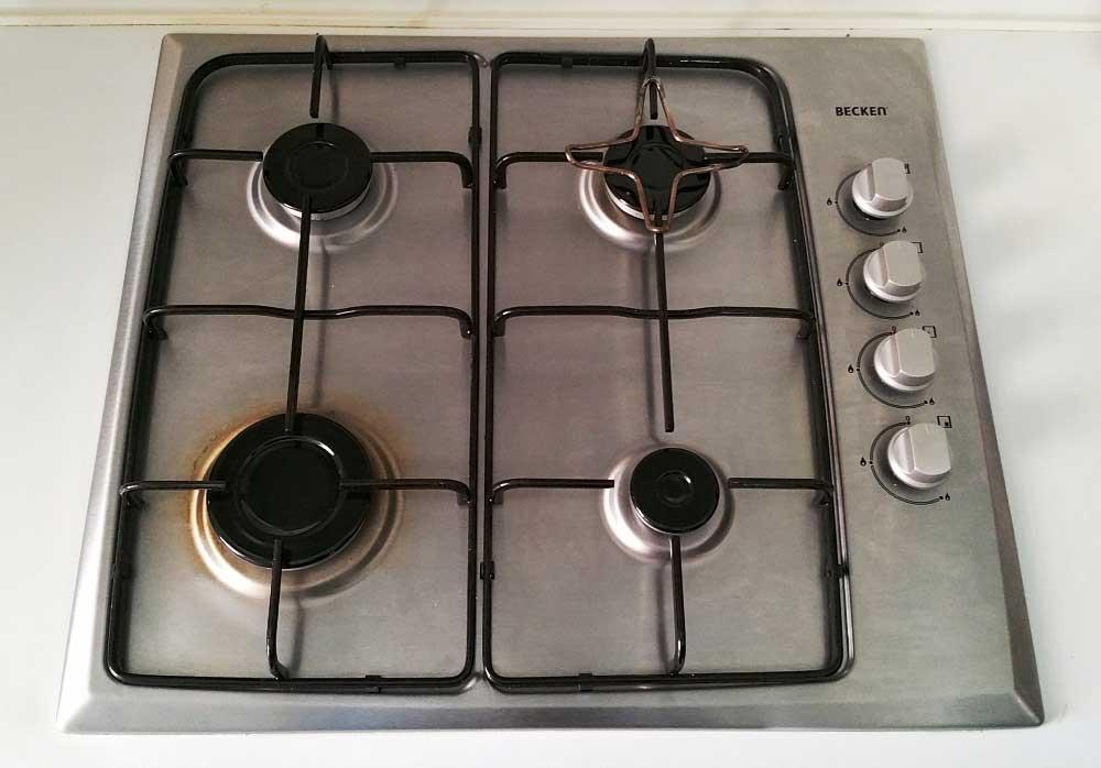 Cocina becken vesis60inox se apagan los fuegos for Cocina vitroceramica a gas