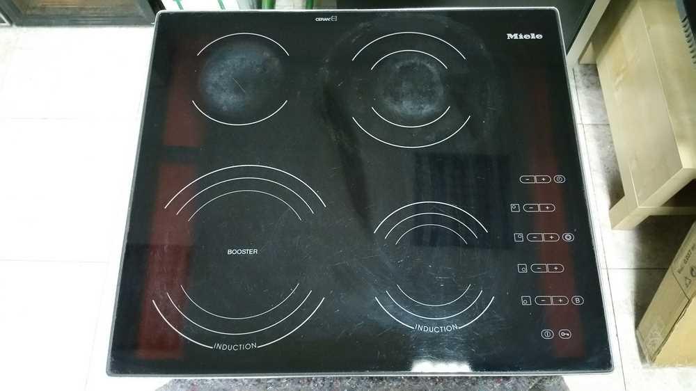 Cristal placa mixta miele segundamano usado for Placas de cocina mixtas